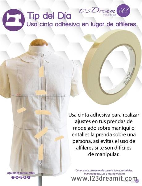 Tip del día: ¡Utiliza cinta adhesiva en lugar de alfileres!