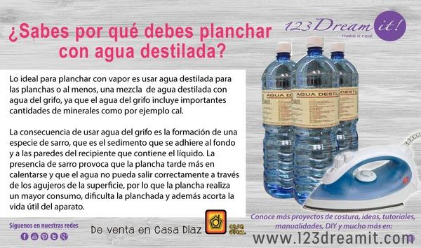 Usa agua destilada para planchar