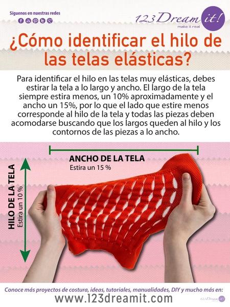 ¿Sabes cómo identificar el hilo de las telas elásticas?