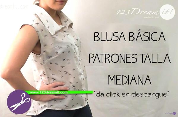 Blusa Básica- Patrones Talla Mediana