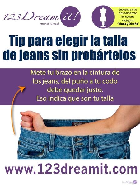 Tip para elegir la talla de jeans sin probártelos