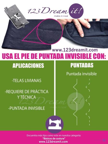 Usos y aplicaciones del pie de puntada invisible