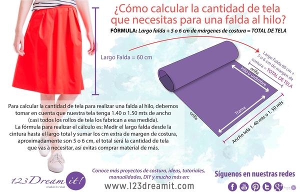 Como calcular la tela para una falda