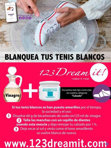 Blanquea tus tenis blancos