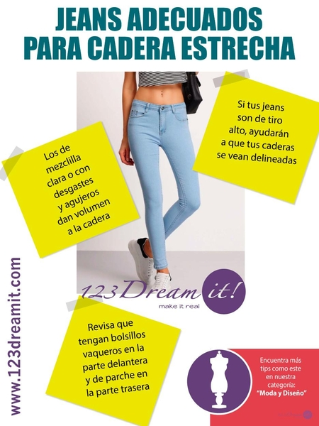 Jeans adecuados para cadera estrecha