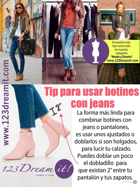 Tip para usar botines con jeans