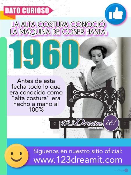 La alta costura conoció la máquina de coser hasta 1960