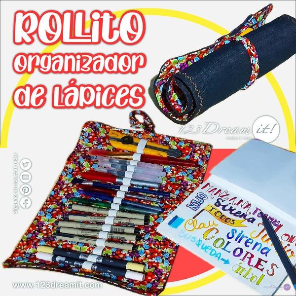 Haz un rollito organizador para lápices