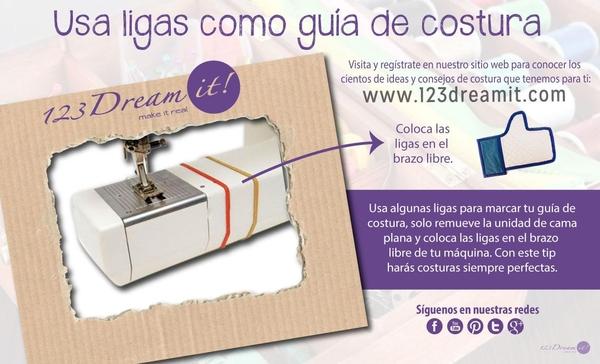 Ligas como guía de costura