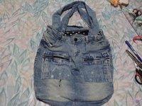 Bolsa de Mezclilla Reutilizando tus Jeans