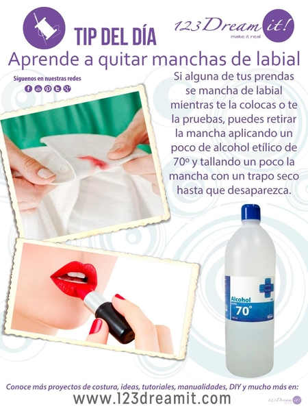 Tip del Día: ¿Sabes cómo retirar manchas de labial de la ropa?