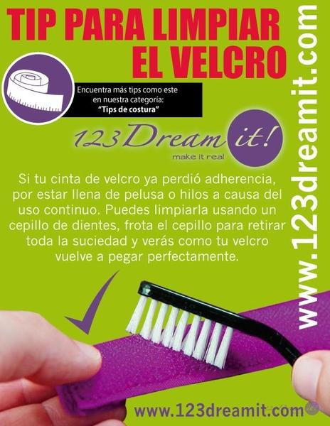 Tip para limpiar el velcro