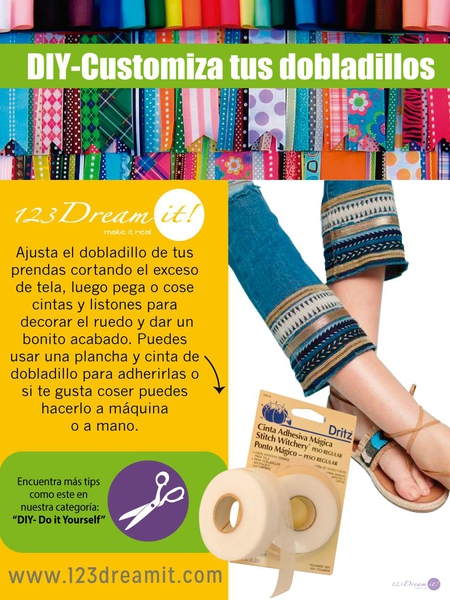 DIY- Customiza tus dobladillos.