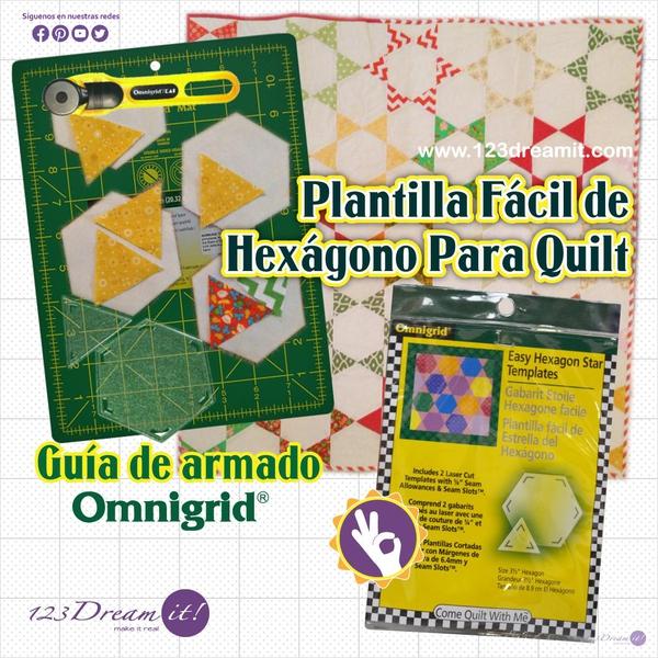 Como usar la plantilla fácil de hexágono para quilt Omnigrid