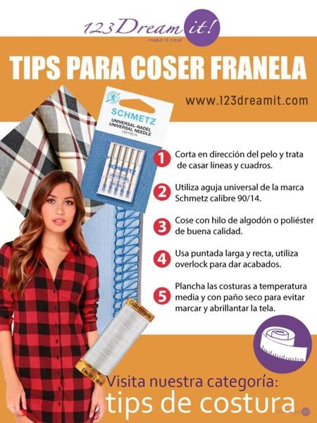 Tips para coser franela