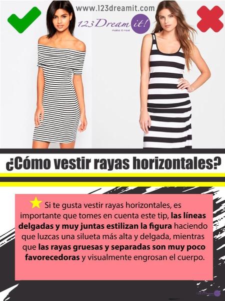 ¿Cómo vestir rayas horizontales?