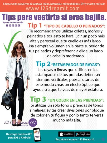 Tips para vestirte si eres bajita