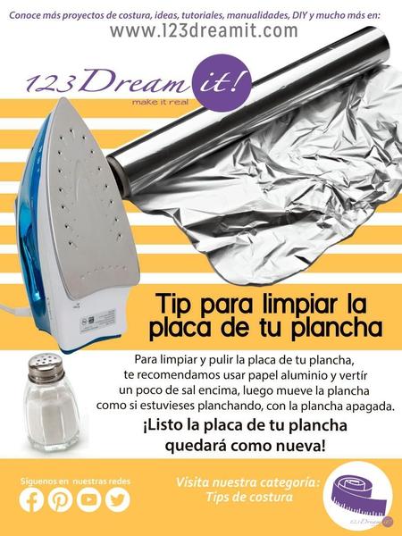 Tip del día para limpiar tu plancha