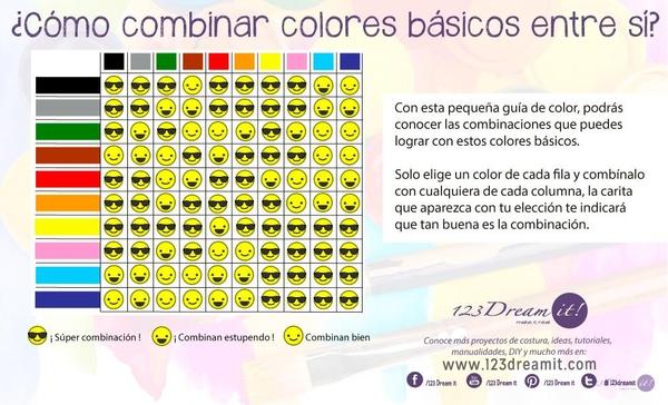 ¡Combina colores básicos entre sí!