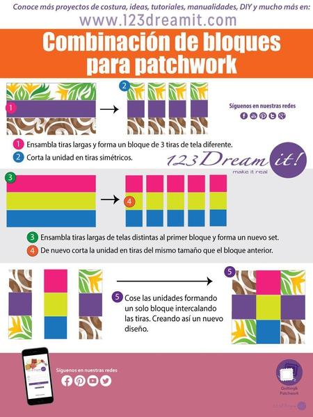 Combinación de bloques para patchwork