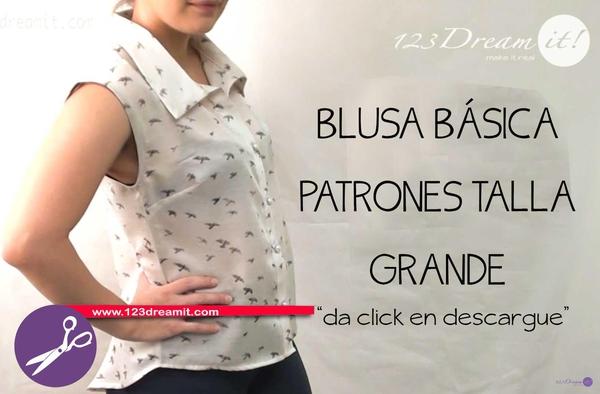 Blusa Básica- Patrones Talla Grande