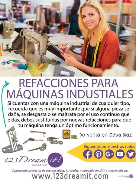 Refacciones para máquina industrial