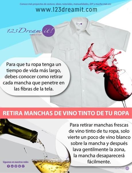 ¿Sabes cómo quitar las molestas manchas de vino tinto?