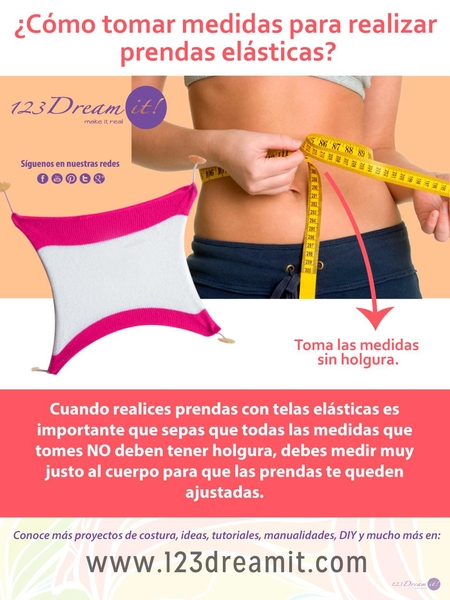 Tip para tomar la medida del cuerpo cuando coses telas stretch