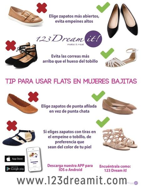 Tip para usar flats en mujeres bajitas