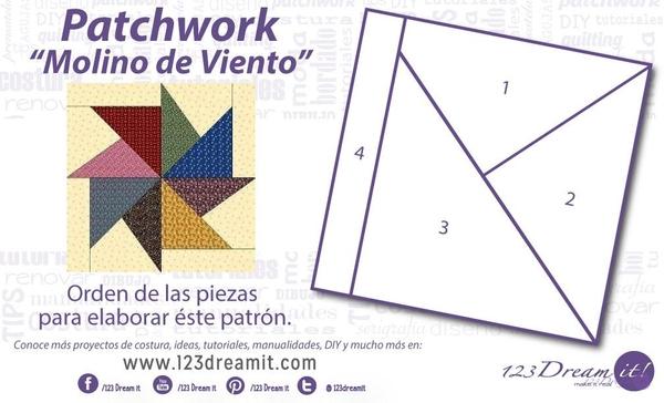 """Patchwork """"Molino de viento"""""""