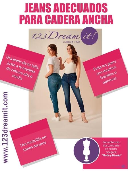 Jeans adecuados para cadera ancha