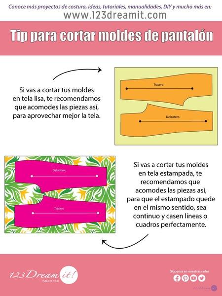 Tip para cortar moldes de pantalón.