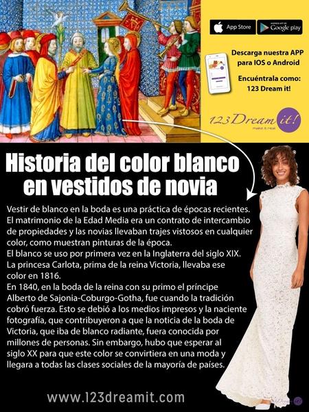 Historia del color blanco del vestido de novia