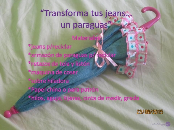 TRANSFORMA TUS JEANS EN UN PARAGUAS¡
