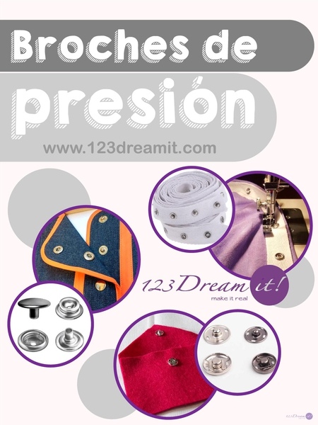 Broches de presión.