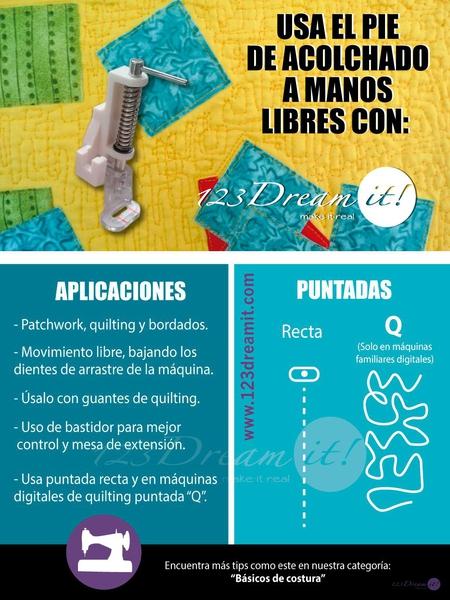 Usos y aplicaciones del pie de acolchado a manos libres