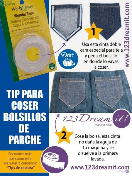 Tip para coser bolsillos de parche