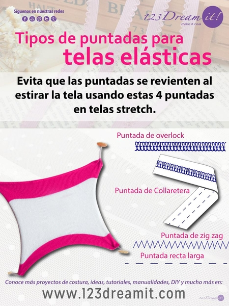 Puntadas para telas elásticas