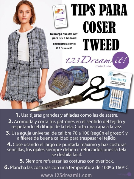 Tips para coser tweed