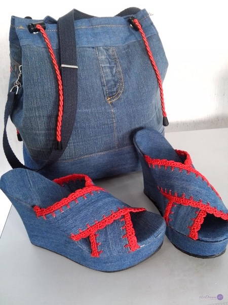 Coordinado de bolsa y sandalias