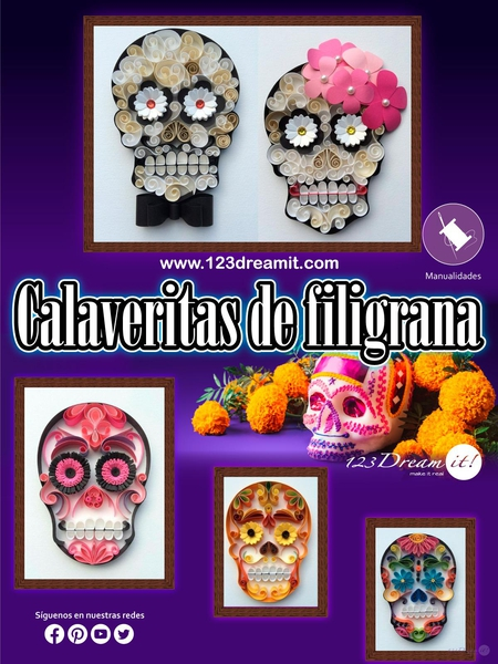 Calaveritas de filigrana