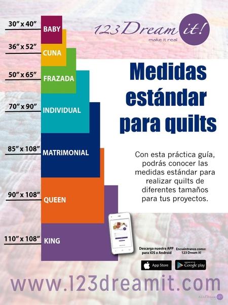 Medidas estándar para quilts