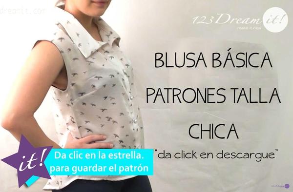 Blusa Básica - Patrones Talla Chica