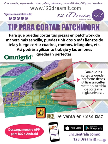 Tip para cortar patchwork