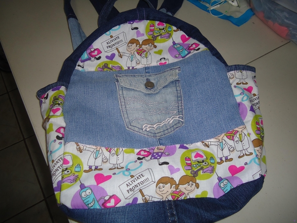 Backpack with my Jeans.