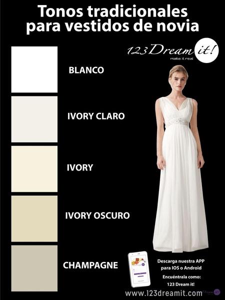 Tonos tradicionales para vestidos de novias
