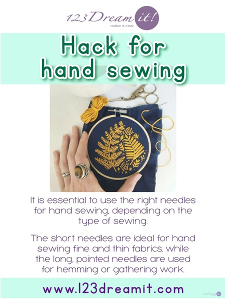 HACK FOR HAND SEWING