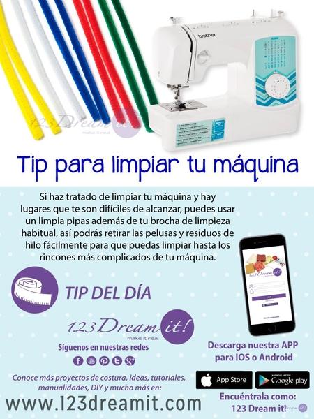Tip del día: ¡Limpia tu máquina con un limpia pipas!