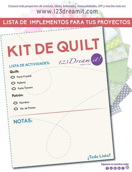 Organiza tu proyecto de quilt con una sencilla lista
