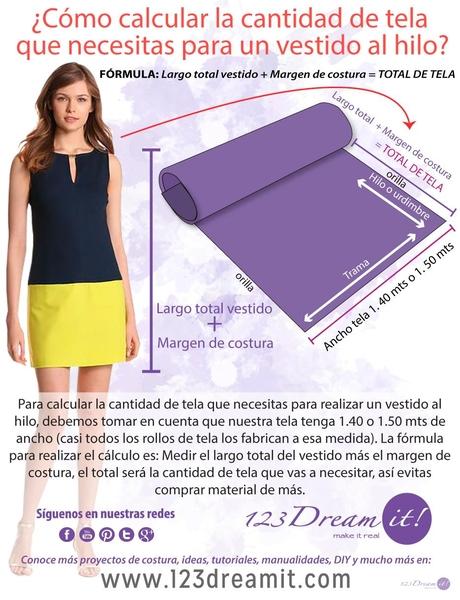 Como calcular la tela para un vestido